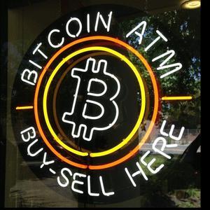Image 1 - Personnalisé B acheter vendre ici BITCOIN ATM personnalisé barre de bière verre néon signe