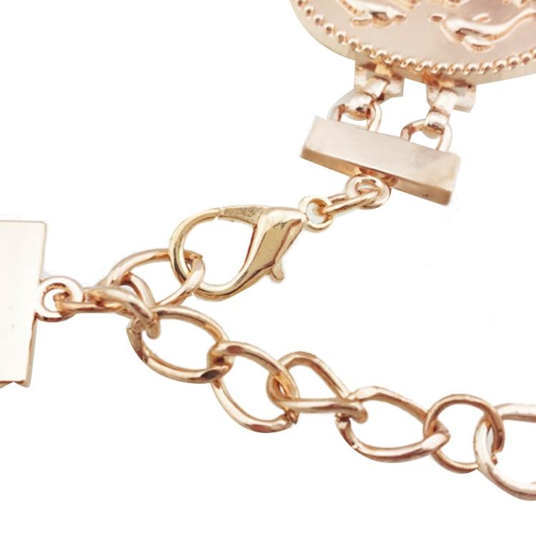 Golden Coin Dolphins Portrait Metal Waist Belt 10