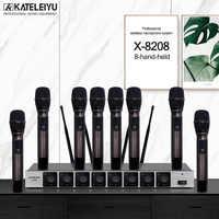 Professionelle X-8208 UHF Handheld Mikrofon 8 Kanäle Kit für Große Treffen Konferenz bühne Audio Ausgang hohe antiinterference