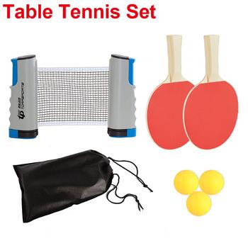 Ping Pong zestaw piłeczka do pingponga 1 7M stół netto rakieta do tenisa stołowego wiosła Pingpong akcesoria treningowe sporty halowe ćwiczenia tanie i dobre opinie