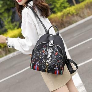 Image 4 - India Thai Style Women Backpack Leisure Ethnic Style High Quality Oxford Packbag Travel Female School Shoulder Back Bag for Girl
