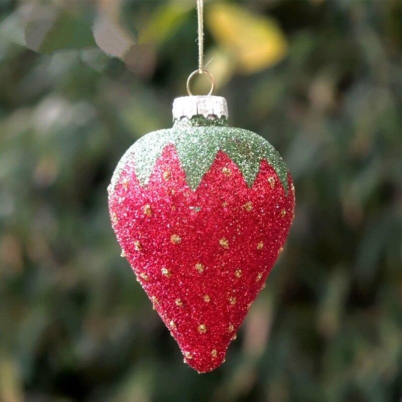 Haute Qualité 6 peint à la main Verre Babioles Décorations pour arbres de Noël 80 mm!!!