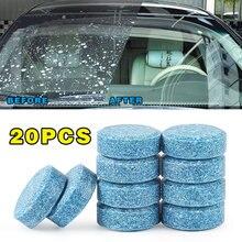 10/20/40 pçs carro sólido limpador efervescente comprimidos spray limpador janela do carro pára-brisa de vidro limpeza acessórios automóveis