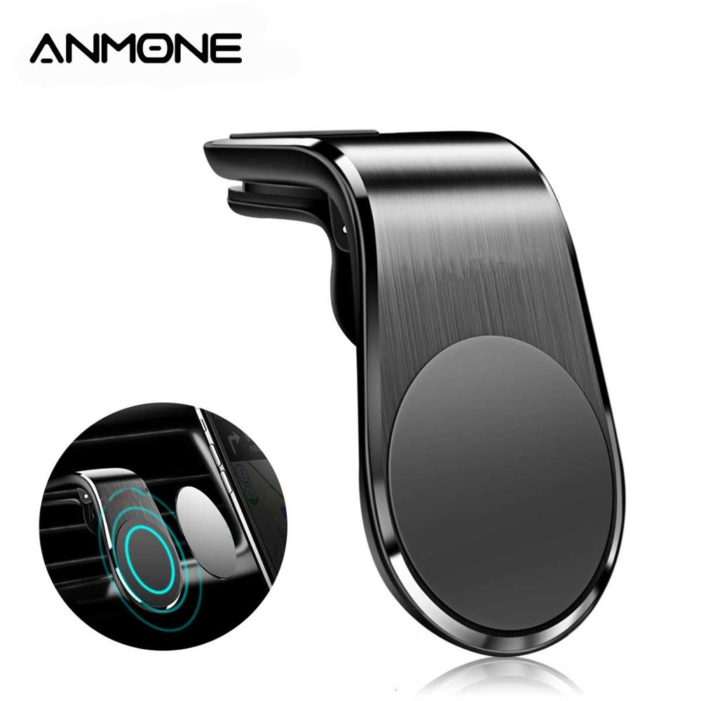 ANMONE Magnetic Car Phone Holder Universal Air Vent Clip Mount For Xiaomi Redmi Note 8 Pro In GPS Navigation Car Mount Stand