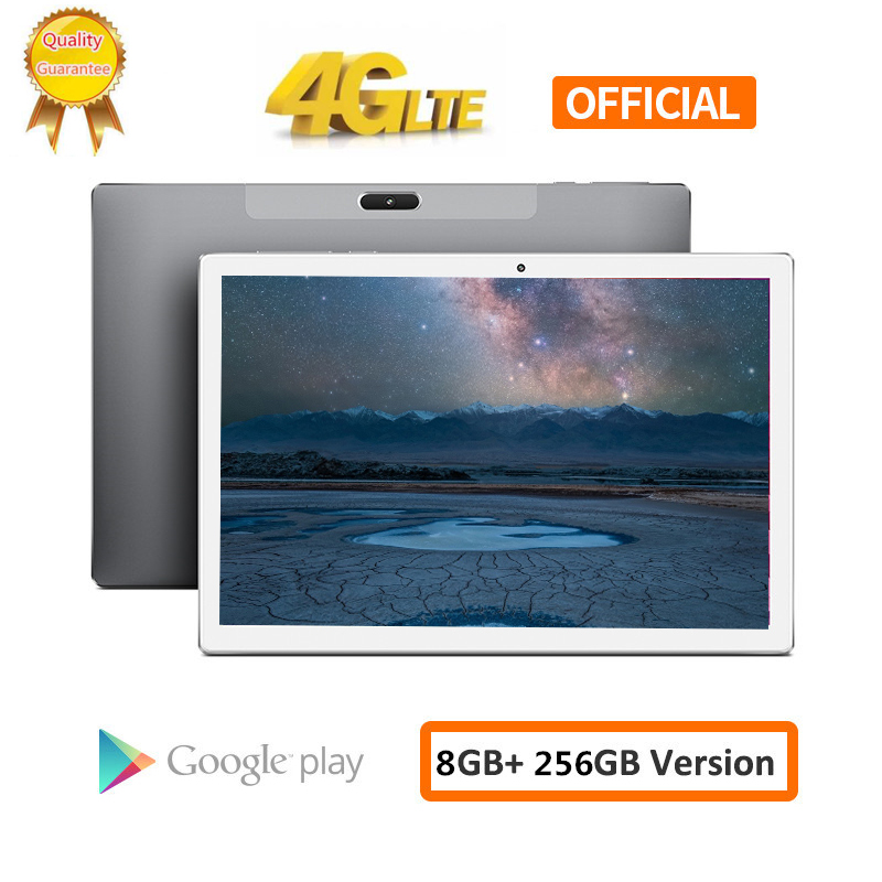 CARBAYTA Tablet PC 10.1 Inch 4G Network Android 8.0 8GB RAM 256GB ROM MT6797 X20 10 Deca Core 1920X1200 8000mAh GPS Dual Wifi