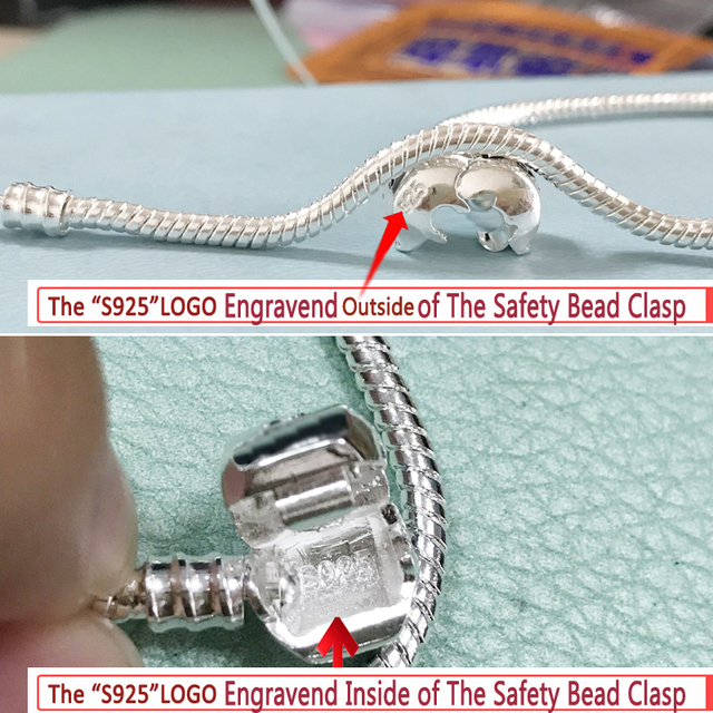 LMNZB With Certificate 100% Original 925 Sterling Silver Snake Chain DIY Charm Bracelet for Women Gift Silver 925 Jewelry LHB925 4