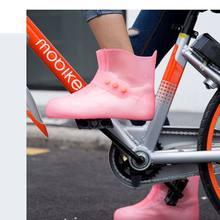 Hot Sell Waterproof Rain Shoes Covers Men Women Shoes Protectors Non-Slip Soles Reusable PVC Rainproof Bike Rain Boot Shoe Cover