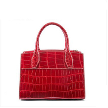 gete  new crocodile leather handbag for women Estuarine crocodile Crocodile leather  American style handmade bag woman hand bag gete new crocodile handbag fashion luxury european and american leather handbag bag socialite high capacity female bag
