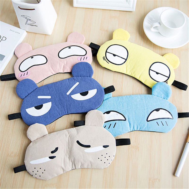1Pcs Sleeping Eye Mask Soft Padded Sleep Travel Shade Cover with Ice Compress Gel Travel Rest Eye Shade Cover Blindfold