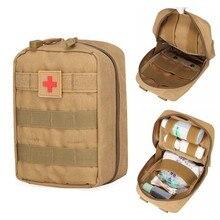 Pochette médicale Molle, Kit de premiers soins tactiques, trousse de premiers soins, trousse d'outils de survie d'urgence de l'armée et du Camping, chasse en plein air