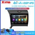 Автомобильный мультимедийный DVD-плеер, 9 дюймов, Android, 2 Гб ОЗУ, 2din, радио, навигация GPS, для Kia K3 Cerato Forte 2013-2017, 3 YD тюнер