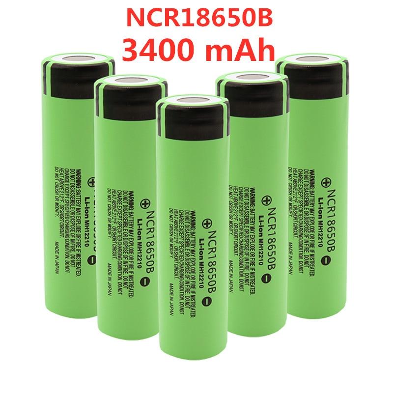 2021 Новый Оригинальный NCR18650B 3,7 в 3400 мАч 18650 литиевая аккумуляторная батарея для фонариков
