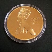 Sexy Woman Coin Get Tails Head! Adult Challenge Lucky Girl Commemorative Coins C