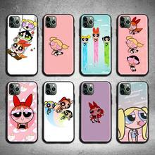 Cartoon Lovely Power Girls Puff Phone Case For iphone 12 11 Pro Max Mini XS Max 8 7 6 6S Plus X 5S SE 2020 XR cover