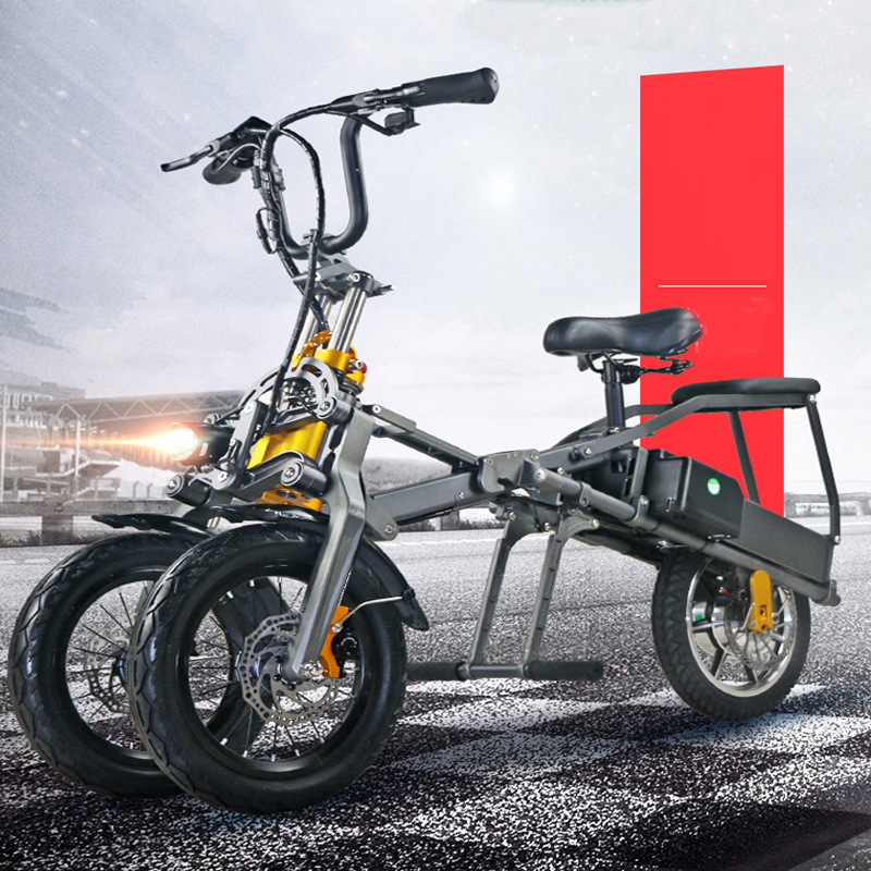 JX003 High speed electric bike 350w 48V 3 wheel foldable electric bicycle e scooter 1