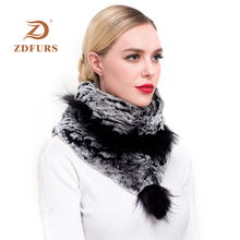 ZDFURS* 2019 new Women Real Rex Rabbit Fur Scarf fox fur trim Capes Winter Warm Triangle Wraps Handmade Neckerchiefs Fluffy Soft