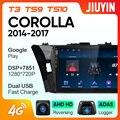 JIUYIN для Toyota Corolla 2014-2017 автомобильный Радио мультимедийный видео плеер навигация GPS Android No 2din 2 din