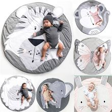 Baby Play Mat Pad Cotton Soft Infant Crawling Blanket Animal Cute Round Carpet Floor Rug Kids Children Room Nordic Decor