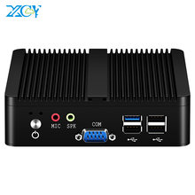 Quad-core mini pc intel pentium j2900 windows 10 wifi 2 * gigabit ethernet 2 * rs232 4 * usb fanless industrial micro computador(China)