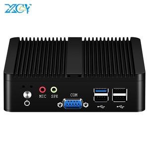 XCY Quad-cores Mini PC Intel Pentium J2900 Windows 10 Linux DDR3L RAM mSATA SSD WiFi 2x Gigabit Ethernet 2x RS232 4x USB Fanless