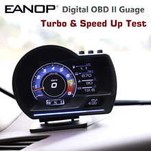 EANOP HUD L200Pro OBD 2 GPS Digital Guage Display Head Up Speed Monitoring with Acceleration Turbo Brake Test Upgrade Version