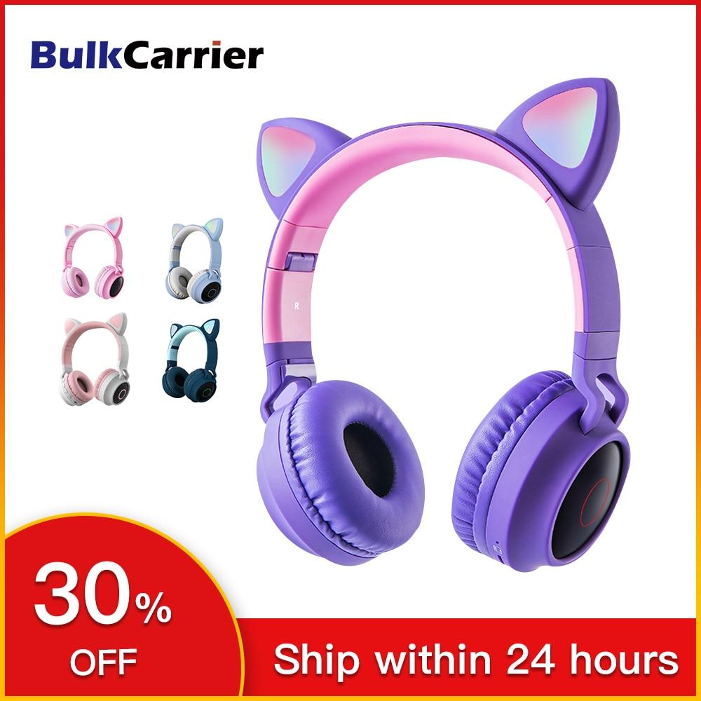 Bluetooth наушники Kitty, милые наушники для девочек, беспроводные наушники с микрофоном, подарки на день рождения, наушники с кошачьими ушками, BlueTooth Headest|Наушники и гарнитуры| | АлиЭкспресс