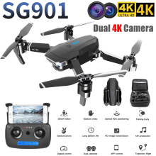 SG901 Camera Drone 4K HD Dual folding Drones Follow Me quadcopter FPV profissional Professional GPS Long Battery Life