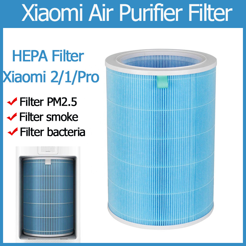 For Xiaomi Air Filter 1 3 2 2s Pro HEPA Mi Air Filter HEPA Air Cleaning Removing Dust PM2.5 HEPA Version Xiaomi Purifier Filter