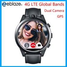 Zeblaze THOR 5 PRO akıllı saat 4G LTE dört çekirdekli 3GB RAM + 32GB ROM LTPS çift kamera nabız monitörü spor İzle Android iOS için