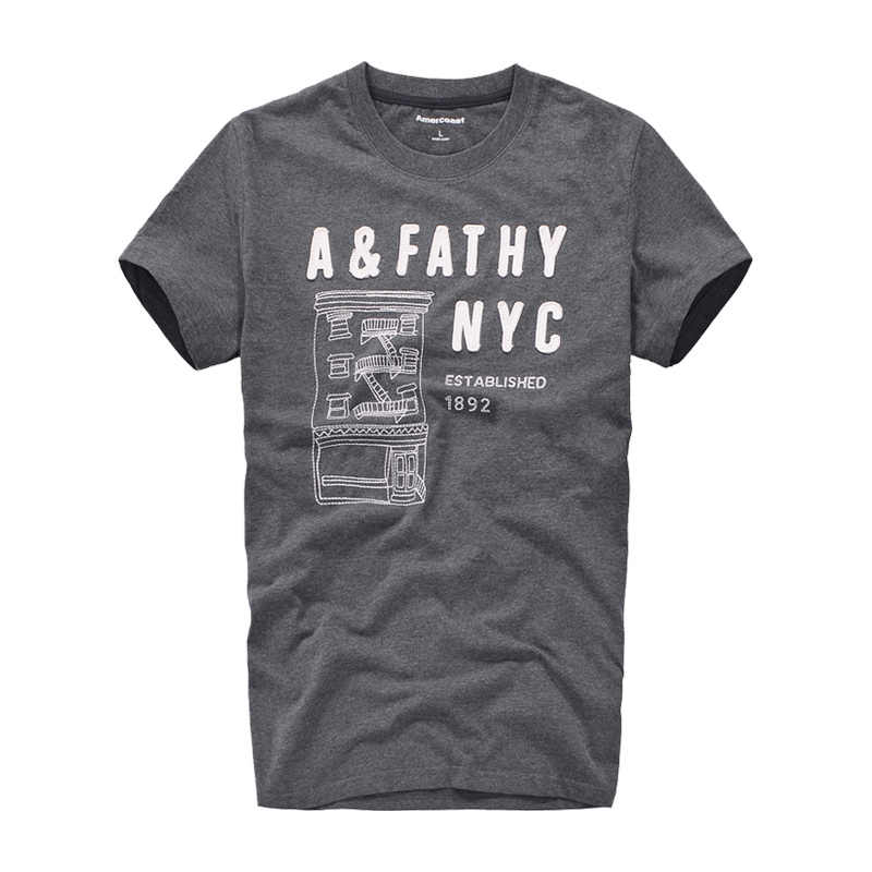 100% 코 튼 인쇄 t-셔츠 남자 미국 해안 새로운 패션 거리 패션 유명 브랜드 여름 스타일 큰 애플 그래픽 t 셔츠