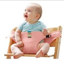Младенец Младенец Малыш Ребенок Дети Портативный Обеденный Стул Сиденье Путешествие Складной Моющийся Безопасность Ремень Вспомогательный Ремень
