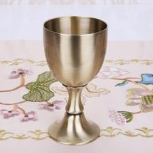 2 шт./партия Ретро бокал для белого вина свадебное Стекло европейский античный металлический высокий фут классический зеленый бронзовый цинковый сплав ZCF009