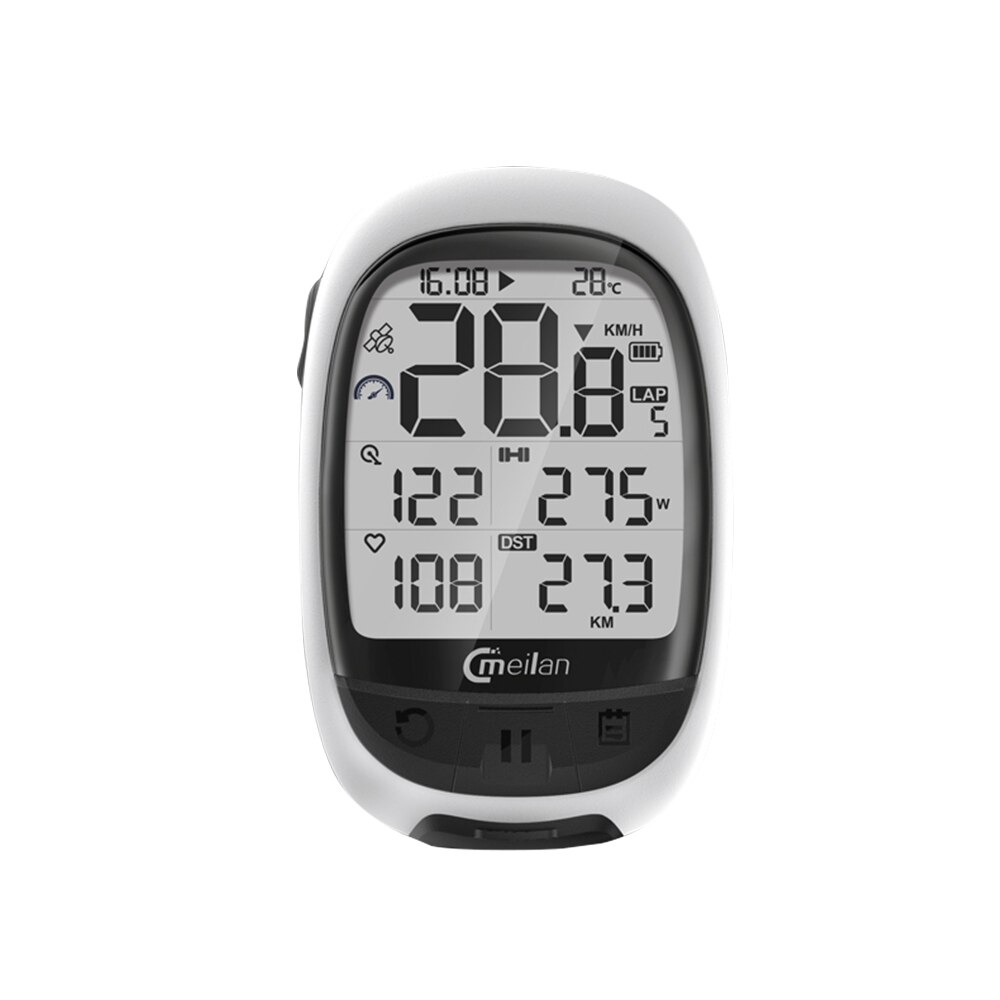 MEILAN M2 GPS <font><b>Bike</b></font> Computer Cadence Heart Rate <font><b>Power</b></font> <font><b>Meter</b></font> Cycling Navigation Computer Bicycle Computer Wireless image