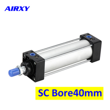 Free Shipping SC40 Series Bore 40mm Stroke 25-500 pneumatic double acting cylinders SC40-25 SC40×50 SC40*75 SC40*100 SC40×125