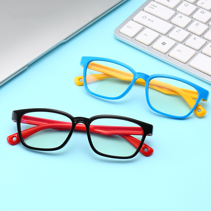Children Optical Glasses Anti-Blue Light Silicone Goggles Eyes Wear Frame One-piece Safe Eyeglasses Safe Eyeglasses Girls Boys