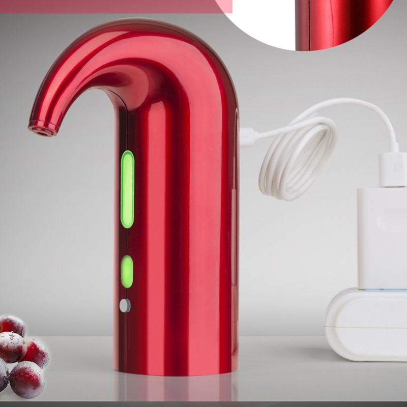 USB Rechargeable Spout Pourer Portable One-Touch electric Wine Aerator Pourer X4YD