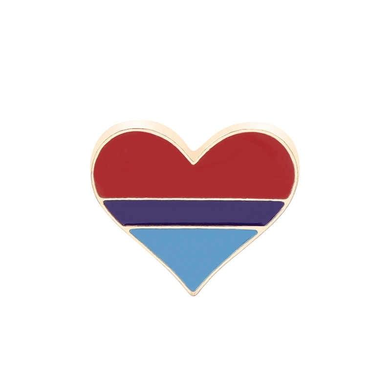 Hot 2020 Regenboog Hart Emaille Pins Gay Pride Lgbt Pin Badge Awareness Broches 2 Stijl Hart Sieraden Voor Mannen Vrouwen unisex