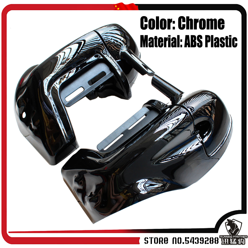 Black Lower Vented Leg Fairing Glove Box for Harley Road King Tour Electra Glide