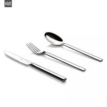 Orijinal Huohou biftek bıçakları kaşık çatal paslanmaz çelik kaliteli yüksek dereceli akşam yemeği yemek takımı ev çatal bıçak kaşık seti