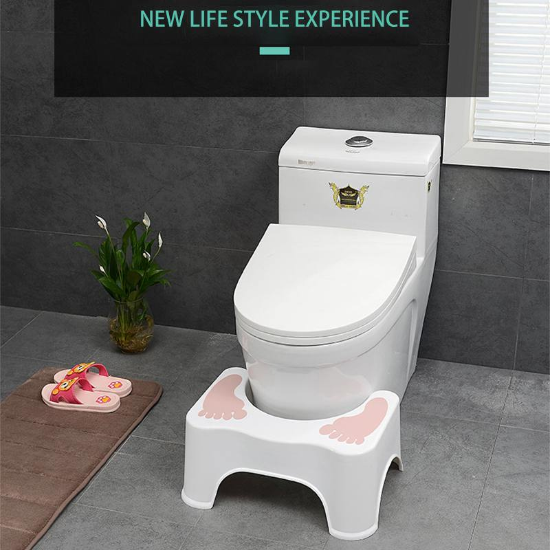 Home Plastic Squatting Stool Bathroom Squat Toilet Stool Compact Potty Stool Portable Step Seat For Home Bathroom Toilet