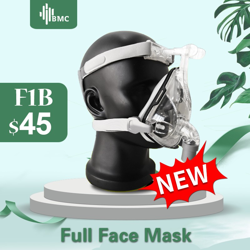BMC F1B Full Face Mask 2019 Fashion Type For CPAP BIPAP Machine Size S/M/L Have Special Effects For Anti Snoring And Sleep Aid