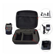 Walkie Talkie durumda taşıma çantası çanta depolama BAOFENG UV 5R/5RE artı RETEVIS iki yönlü telsiz lansmanı av çanta kamuflaj radyo