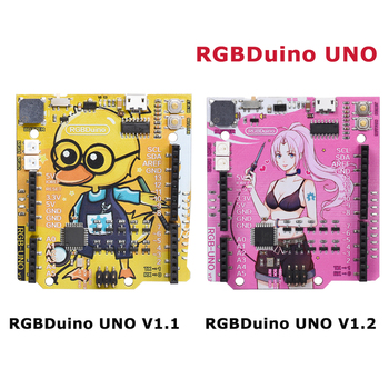 RGBDuino UNO V1.1/V1.2 Development Board ATmega328P Chip Micro Controller CH340C VS Arduino UNO R3  For Raspberry Pi 4 Pi 3 uno r3 ch340g mega328p smd chip 16mhz for arduino uno r3 development board usb cable atega328p one set
