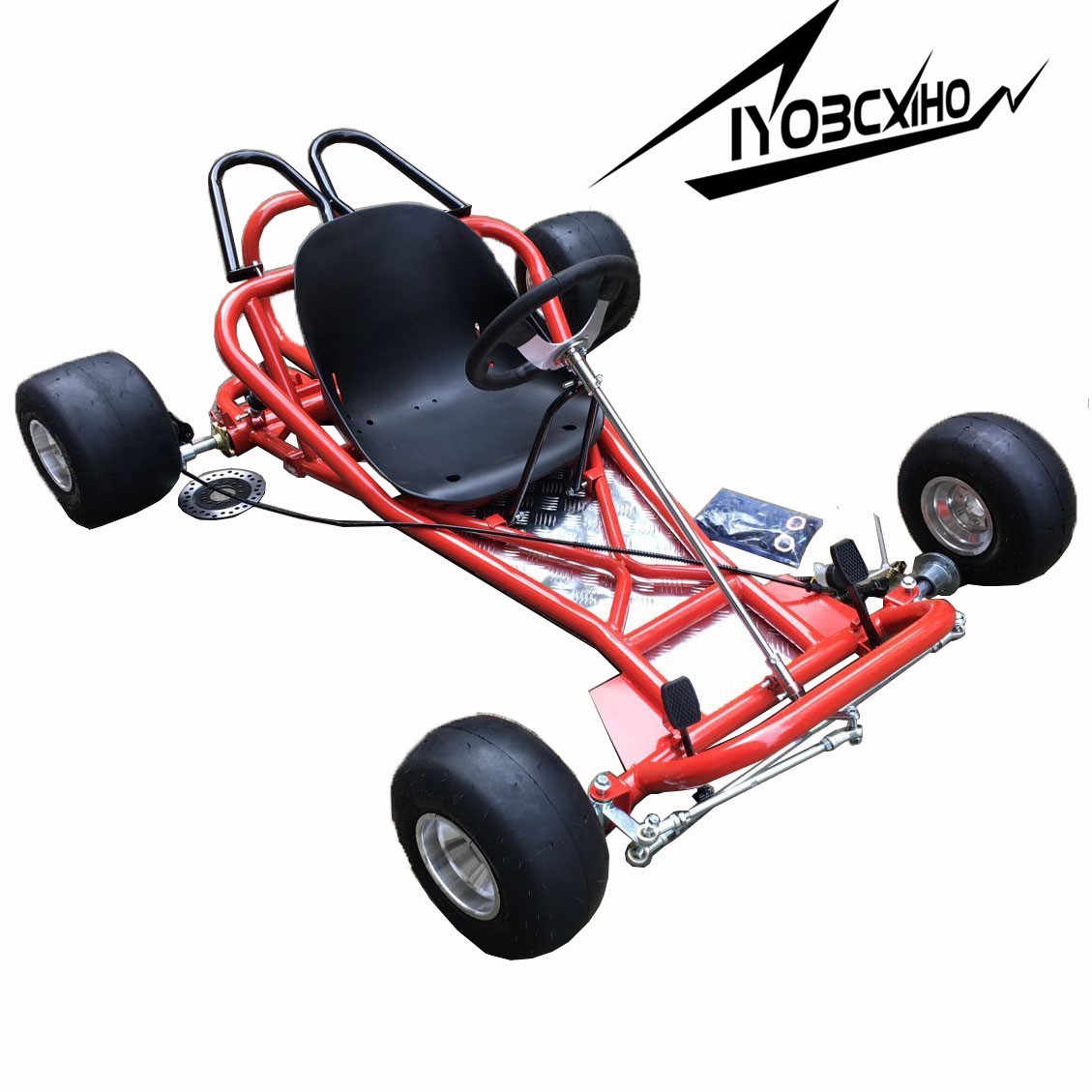 Whole Body Frame Of 168cc Go Kart Utv Buggy Total Set With Front Steering System Rear Axle Rear Brake Including Wheels And Seat Atv Parts Accessories Aliexpress