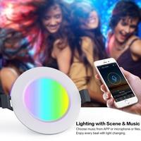Wi-fi inteligente Downlight Lâmpada Bluetooth RGBW APP Controle Remoto Luz Do Ponto Regulável Recesso 4.5W Lâmpadas LED de Luz Branca/ luz quente