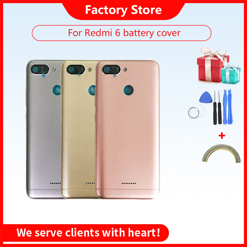 <font><b>Battery</b></font> Back Cover For <font><b>Redmi</b></font> <font><b>6</b></font> <font><b>Battery</b></font> Cover Back <font><b>Case</b></font> For <font><b>Redmi</b></font> 6A Back Cover Housing +Volume Power Buttons Cameca Lens image