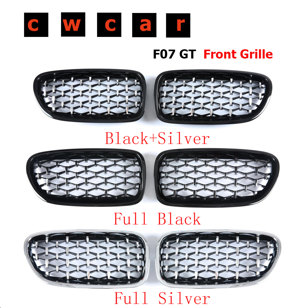 New diamond Style Front Kidney Grille For <font><b>BMW</b></font> 5 series <font><b>GT</b></font> <font><b>F07</b></font> 530d 535i 550i Grille Front <font><b>Bumper</b></font> Grill Car Styling 2010-2017 image