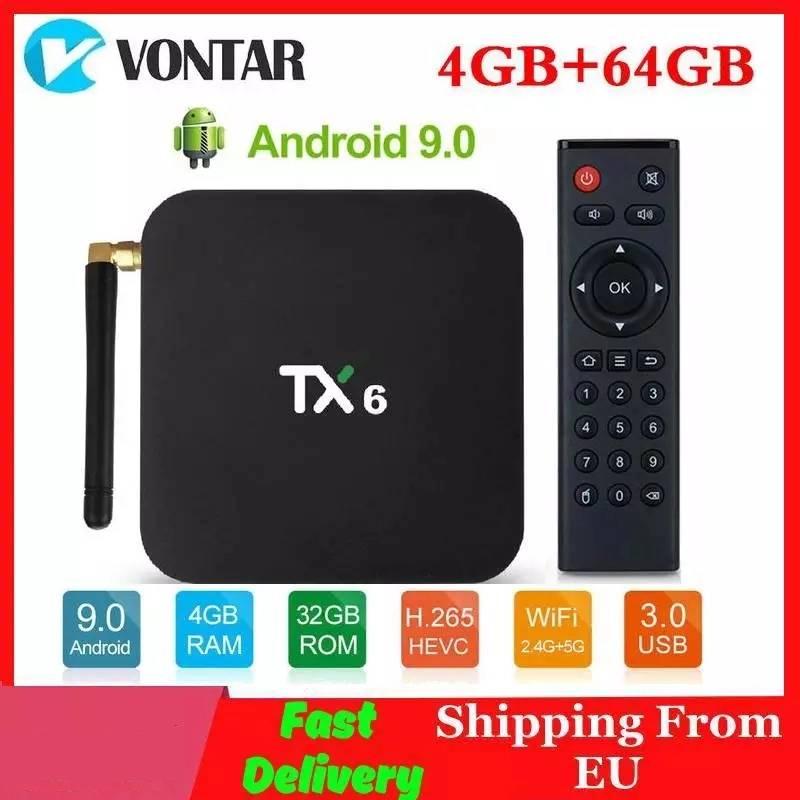 4K Smart TV Box Android 9.0 TX6 Allwinner H6 4GB RAM 64GB ROM 2/16G 32G BT 2.4G/5GHz Dual WiFi Media Player TX6 MINI Set Top Box