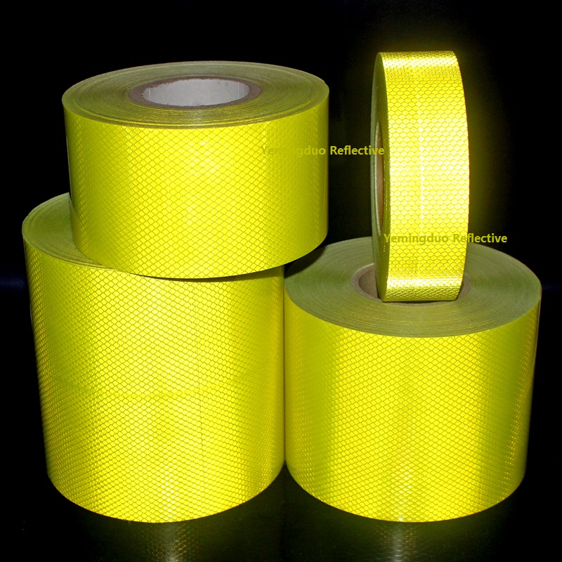 High Visibility Super Strong Reflective CarDecoratiive Sticker Fluorescent PET Self-adhesive Tape Road Traffic Warning Sign