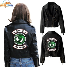 New Riverdale PU jacket Printed Logo Southside Riverdale Serpents Jacke